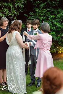 Handfasting of Nathaniel and Serena at Robinswood House