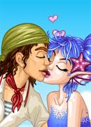 Поцелуй с сиреной - Онлайн игра для девочек