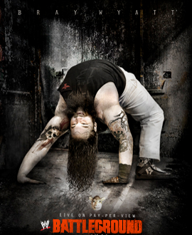Bray Wyatt, ppv poster, wwe battleground, wrestling, divas