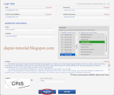 Registrasi Histats 2