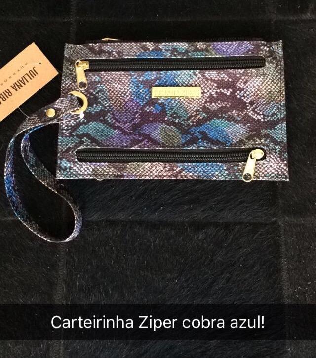 CARTEIRINHA ZIPER COBRA AZUL (CÓDIGO: CA06CBAZ)