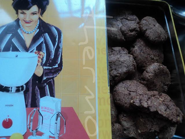 Galletas cookies de chocolate y nueces con espelta receta casera