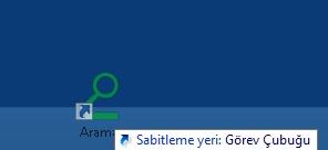 Windows 8 Görev çubuğu Arama