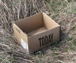 empty box with the word today on it