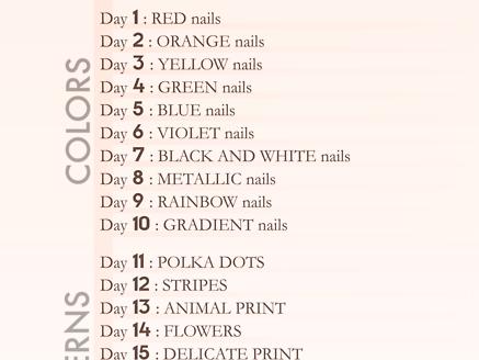 30 Days Nail Challenge.