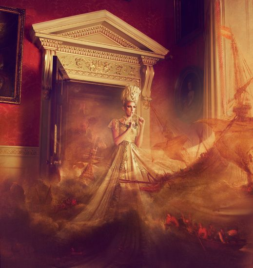 Miss Aniela fotografia surreal fashion modelos animais