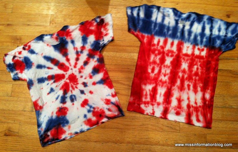 4th of July Tie Die Tshirts | Miss Information