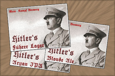 Hitler Beer labels from Mein Kampf Brewery