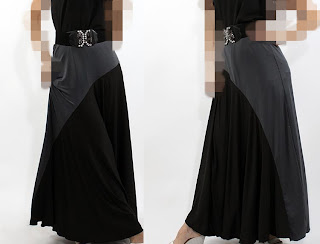 Skirt Labuh Lycra Grey/Black