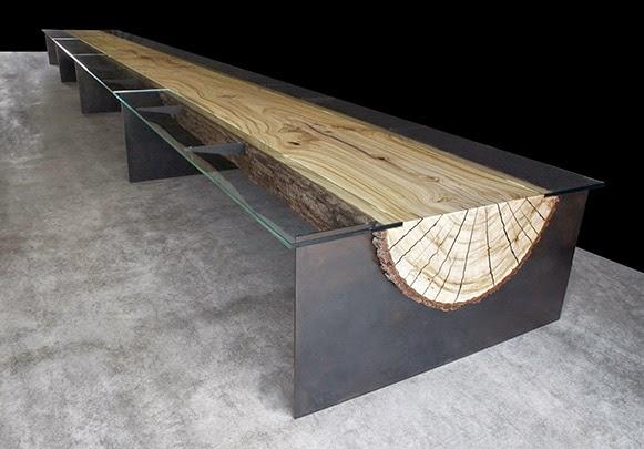 Arquitetando na net mesa com base em tronco de rvore - Mesa de tronco ...