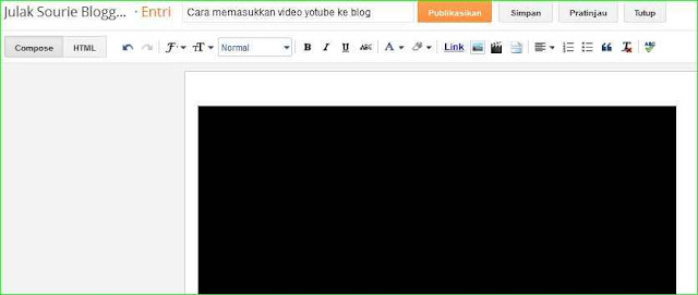 unggah video youtube dan embed ke postingan blogspot