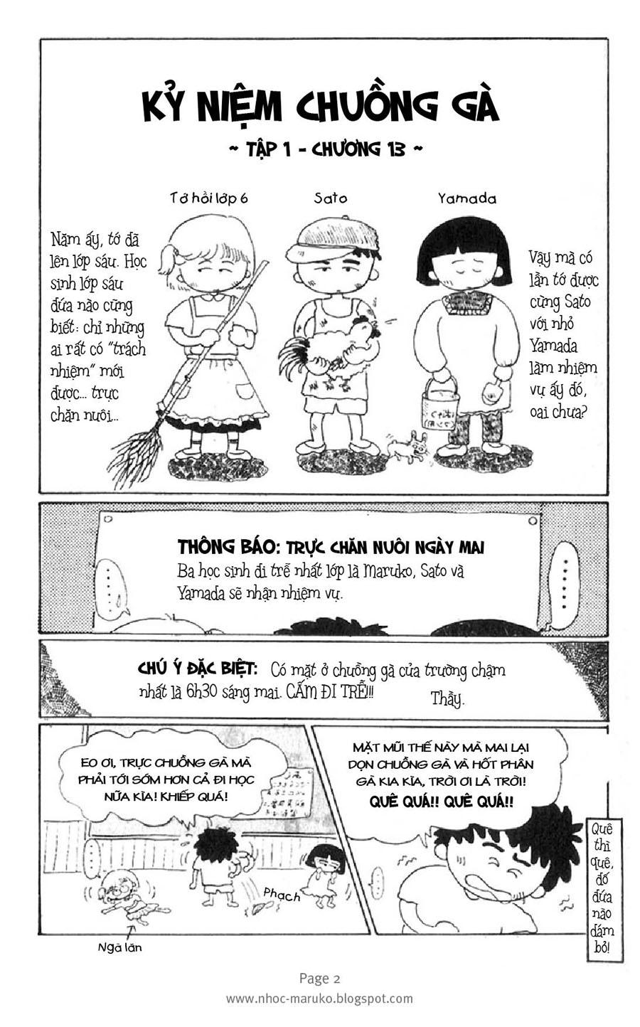 Chibi Maruko-chan: Chapter 13: - Kỷ niện chuồng gà