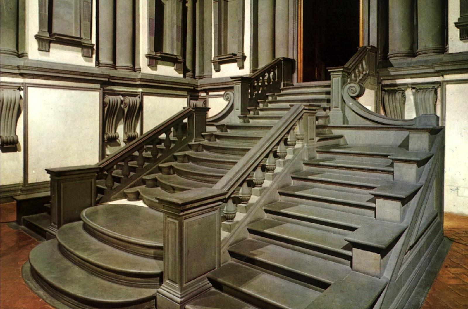 Miguel angel buonarroti escalera laurenciana - Escaleras para bibliotecas ...