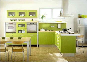 Pintura y madera marzo 2013 for Cocinas verdes modernas