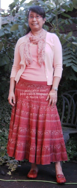 Pink Calico - NetGirl Skirt and Peach