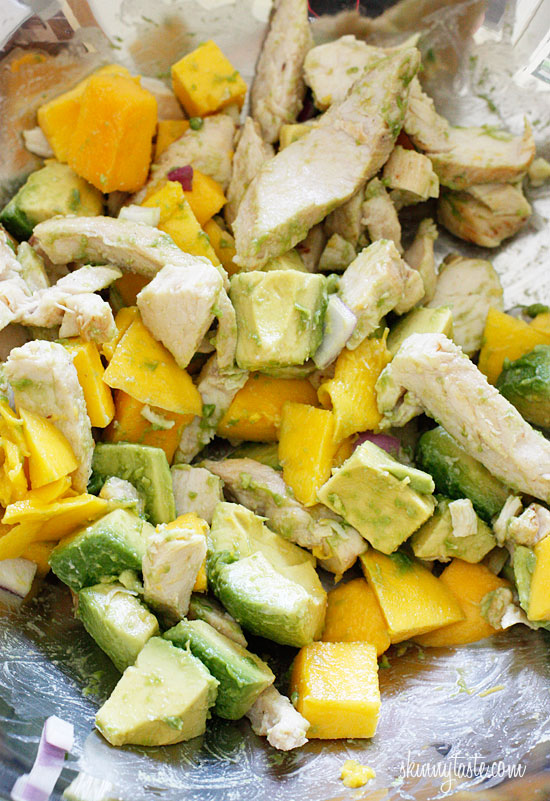 California Grilled Chicken Avocado and Mango Salad | Skinnytaste