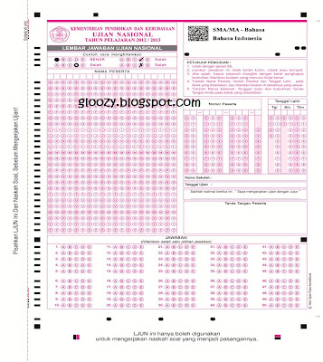 LJUN lembar jawaban ujian nasional memakai barcode
