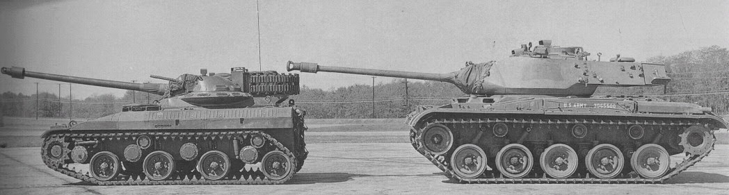 T92 Light Tank vs M41 Walker Bulldog