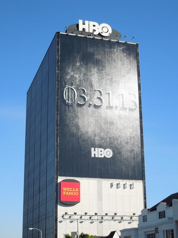 Giant Game of Thrones season 3 teaser billboard