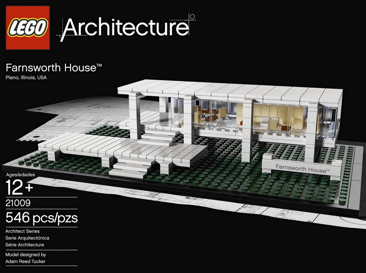 Ludwig Mies Van Der Rohe Farnsworth House In Lego