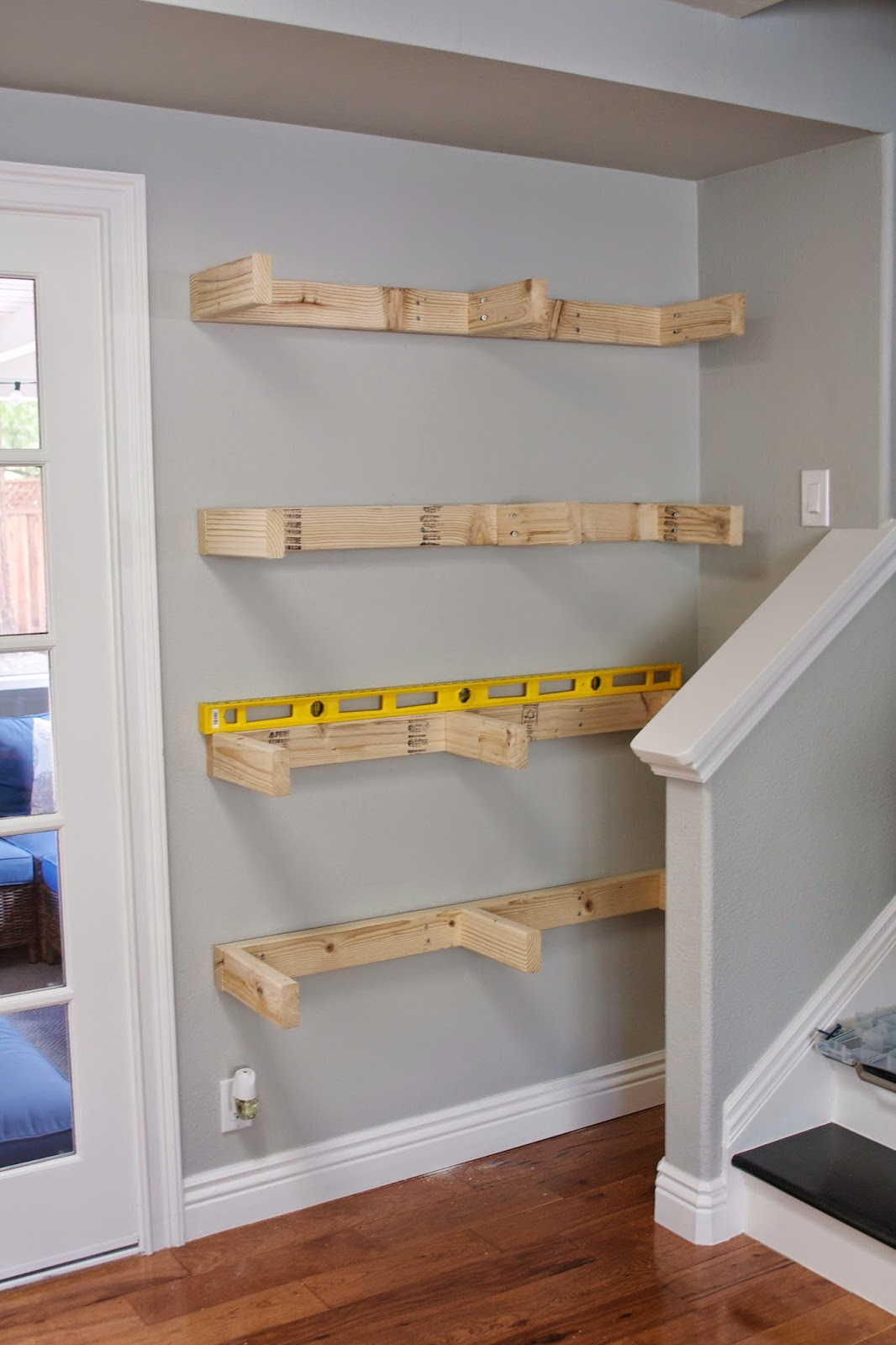 Simply organized simple diy floating shelves tutorial for How to make wall shelves easy