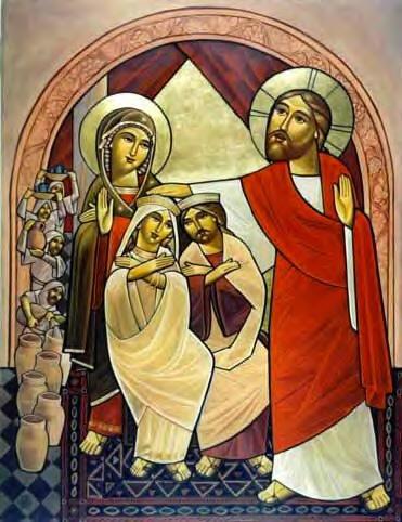 El icono de hoy es similar al de ayer y nos ayuda a situar el tema que desarrollaremos el papel de María en Caná y la manifestación de la \u0026quot;hora\u0026quot; de Jesús.