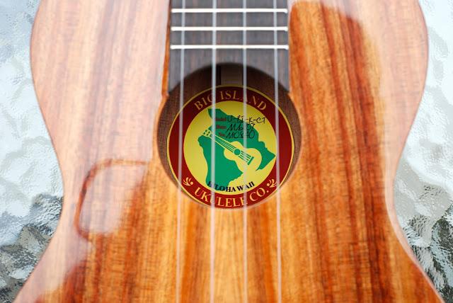big island concert ukulele soundhole