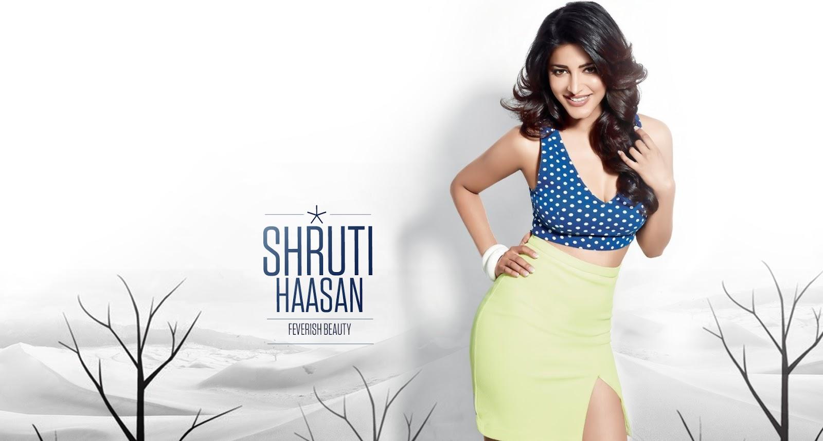 shruti haasan fresh beauty wallpaper