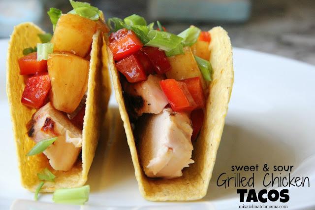 Sweet & Sour Grilled Chicken Tacos - blogs de Recipes