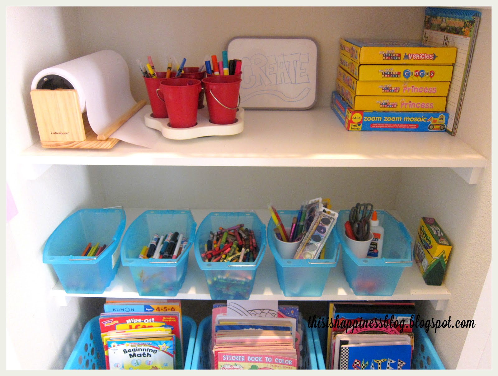 This Is Happiness Organized Kids Arts And Crafts Closet