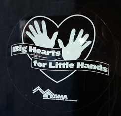Big Hearts for Little Hands Window Cling sold by Nicolosi & Fitch