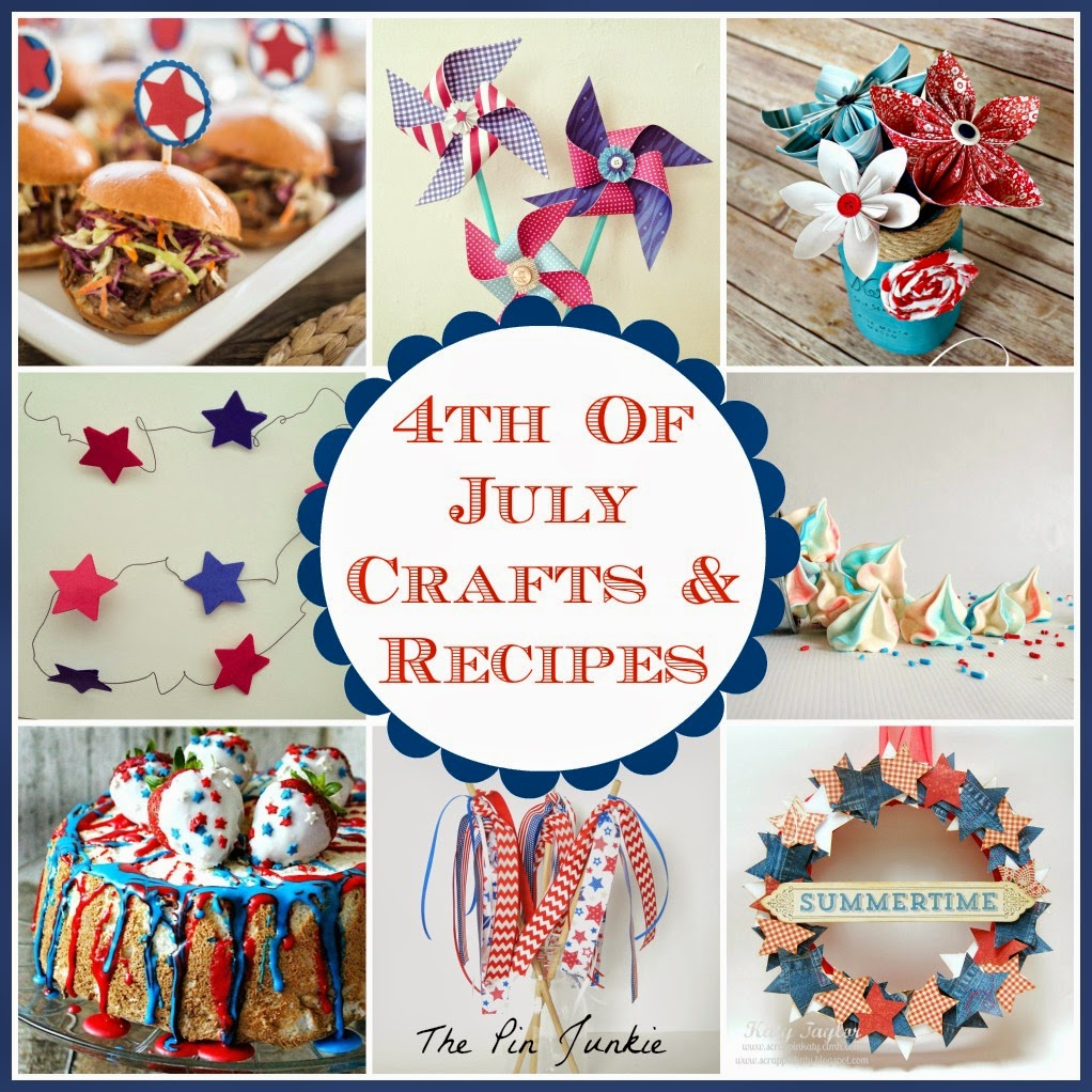 http://www.thepinjunkie.com/2014/07/4th-of-july-crafts-and-recipes.html