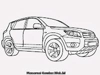 Gambar Mewarnai Mobil Toyota Rav-4