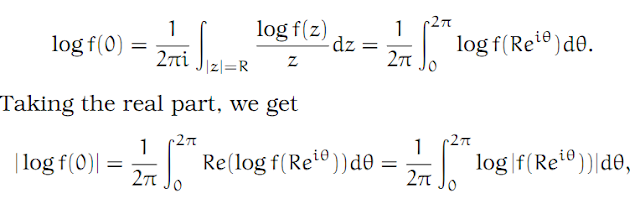 Complex Analysis: #30 Jensen`s Formula equation pic 5