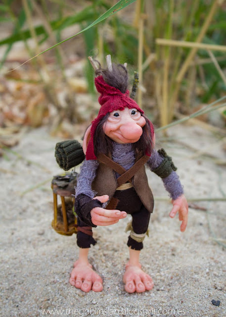goblin ooak fantasy creature faerie handmade