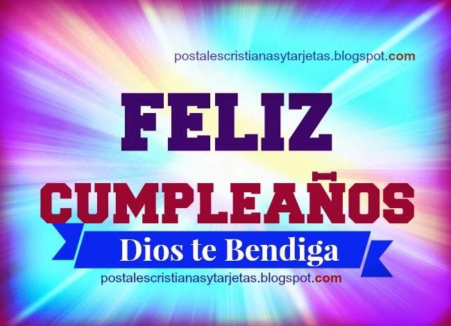 En tu Cumpleaños, Dios te bendiga. Tarjetas, postales, imágenes cristianas de cumpleaños para felicitar amigos, hijos, familia, con frases cristianas, lindas palabras de bendición para hermano de cumple.