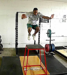 box jumps, plyometrics