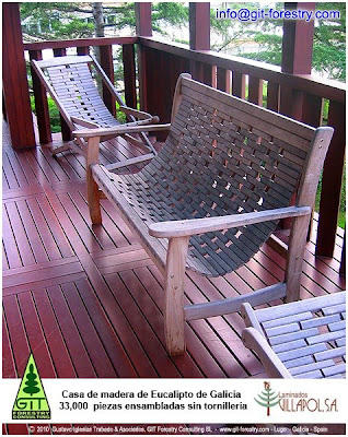 Organically grown renewable and recyclable high quality Eucalyptus solid wood products manufactured in Galicia (Northwestern Spain) from sustainably harvested planted forests: structural use, carpentry, flooring, luxury furniture and board and panels / Biologisch angebaute nachwachsenden und recycelbaren hochwertige Eukalyptus Massivholz Produkte in Galicien (Nordwest-Spanien) aus nachhaltigem Anbau gepflanzt Wäldern hergestellt: baulichen Nutzung, Schreinerei, Bodenbeläge, Luxusmöbel und Pappe und Paneele. / De l'agriculture biologique renouvelables et recyclables de haute qualité des produits fabriqués en bois massif d'eucalyptus en Galice (nord-ouest de l'Espagne) à partir de récolte durable des forêts plantées: utiliser des panneaux de structure, la menuiserie, revêtements de sol, le luxe de mobilier et de conseil et. / Biologisch geteelde hernieuwbare en recyclebare hoge kwaliteit Eucalyptus massief hout vervaardigde producten in Galicië (Noordwest Spanje) uit duurzaam geoogst aangeplante bossen: structurele gebruik, timmerwerk, vloeren, luxe meubilair en karton en panelen. / Органически выращенные возобновляемых и переработки высокого качества эвкалипта твердых продуктов древесины производится в Галисии (северо-западной Испании) из устойчиво собрано лесонасаждений: структурные использования, столярные изделия, полы, мебель роскоши и доски и панели / 可再生利用的有机种植优质桉树实木加利西亚(西班牙西北部)制造从可持续人工林采伐产品:结构的使用,木工,地板,高档家具和电路板和面板。/ 有機再生可能エネルギーやリサイクル持続可能な収穫植林からガリシア(北西スペイン)で製造、高品質ユーカリ無垢材製品の成長:構造用、木工、床材、高級家具やボードとパネルが。/ Gustavo Iglesias Trabado, Roberto Carballeira Tenreiro and Javier Folgueira Lozano / GIT Forestry Consulting SL, Consultoría y Servicios de Ingeniería Agroforestal, Lugo, Galicia, España, Spain / Eucalyptologics, information resources on Eucalyptus cultivation around the world / Eucalyptologics, recursos de informacion sobre el cultivo del eucalipto en el mundo