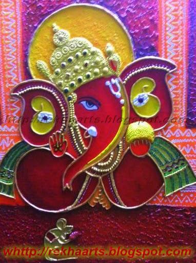 Varnaalaya ganesha for Mural ganapathi