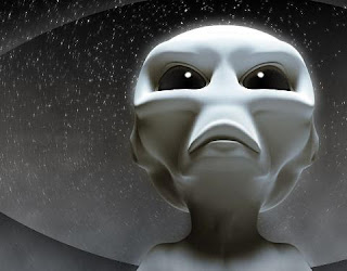 A 3D picture of grey alien according to description given by eye witnesses around the World. [The picture has been taken from the Internet and does not directly belongs to the blog and the author in anyway.]