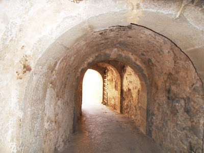 Tunnel and gate leading to town on Spinalonga