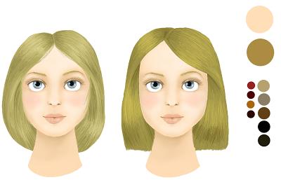 les teintes adaptes pour vos cheveux sont donc les teintes froides une teinte trop flashy risquerait de faire ressortir vos rougeurs ou imperfections et - Coloration Pour Brune Teint Clair