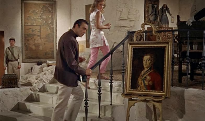 Francisco de Goya painting of the Duke of Wellington, in Dr. No (1962)