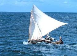 A Caroline Islands canoe