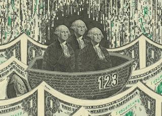 Collage con Billetes de Dolar, Arte y Mensaje