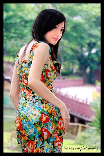myanmar beautiful model girl yu thandar tin
