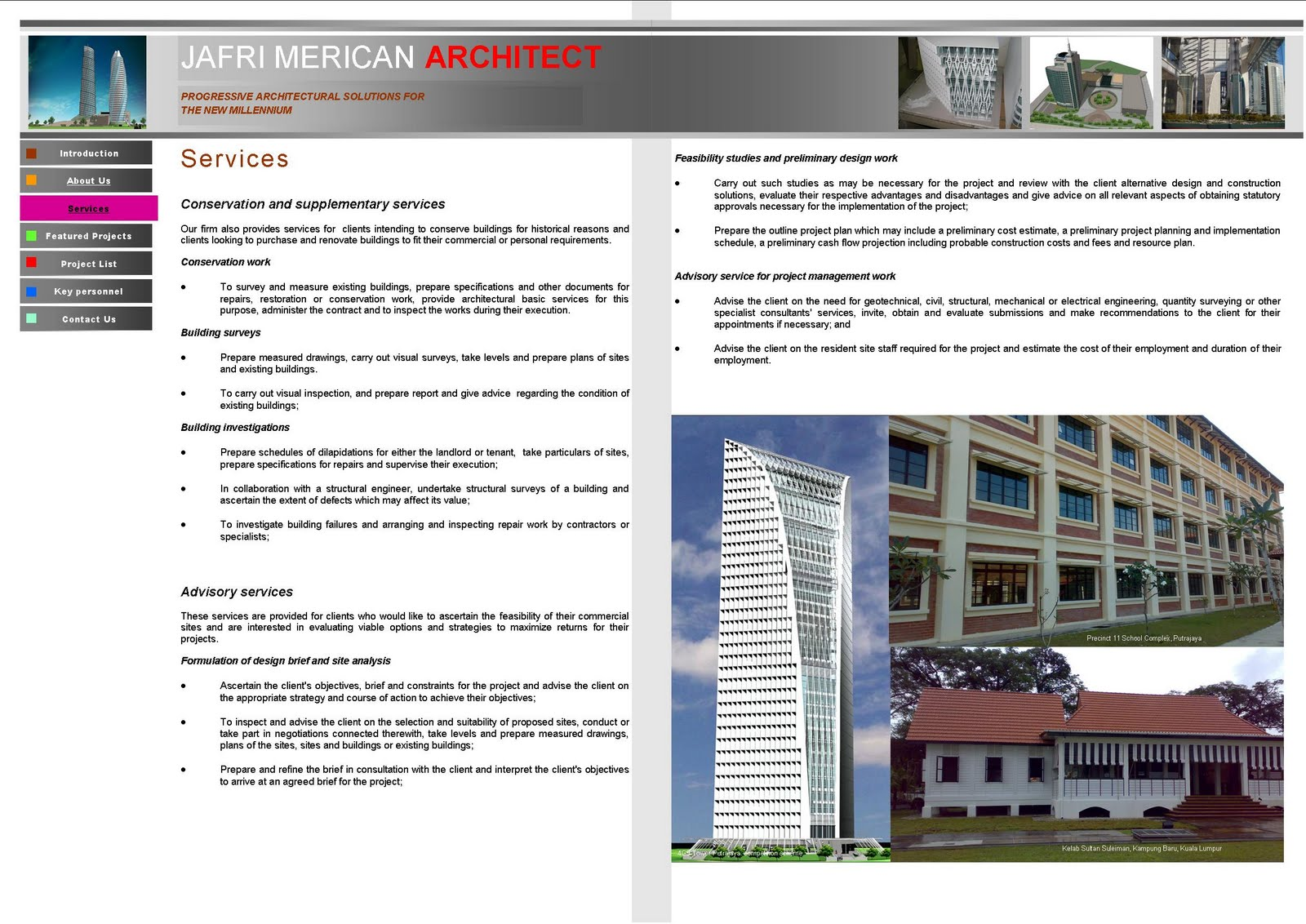 jafri merican architect cv services jafri merican architect is an architectural consultancy firm registered the board of architects lembaga arkitek lam