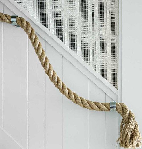 Tu organizas decora o diy a versatilidade da corda - Pasamanos de cuerda ...