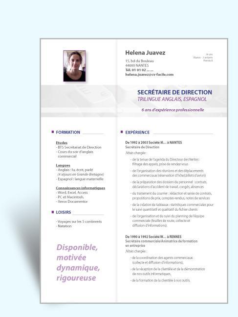 comment rediger un cv en francais pdf
