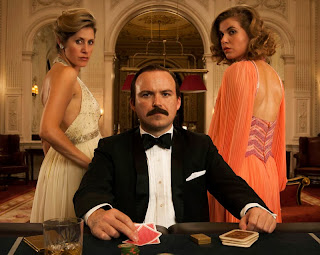 Lucan, ITV: RORY KINNEAR s Lord Lucan and Exttras from the show, Myrtle Vraets and Kya Garwood
